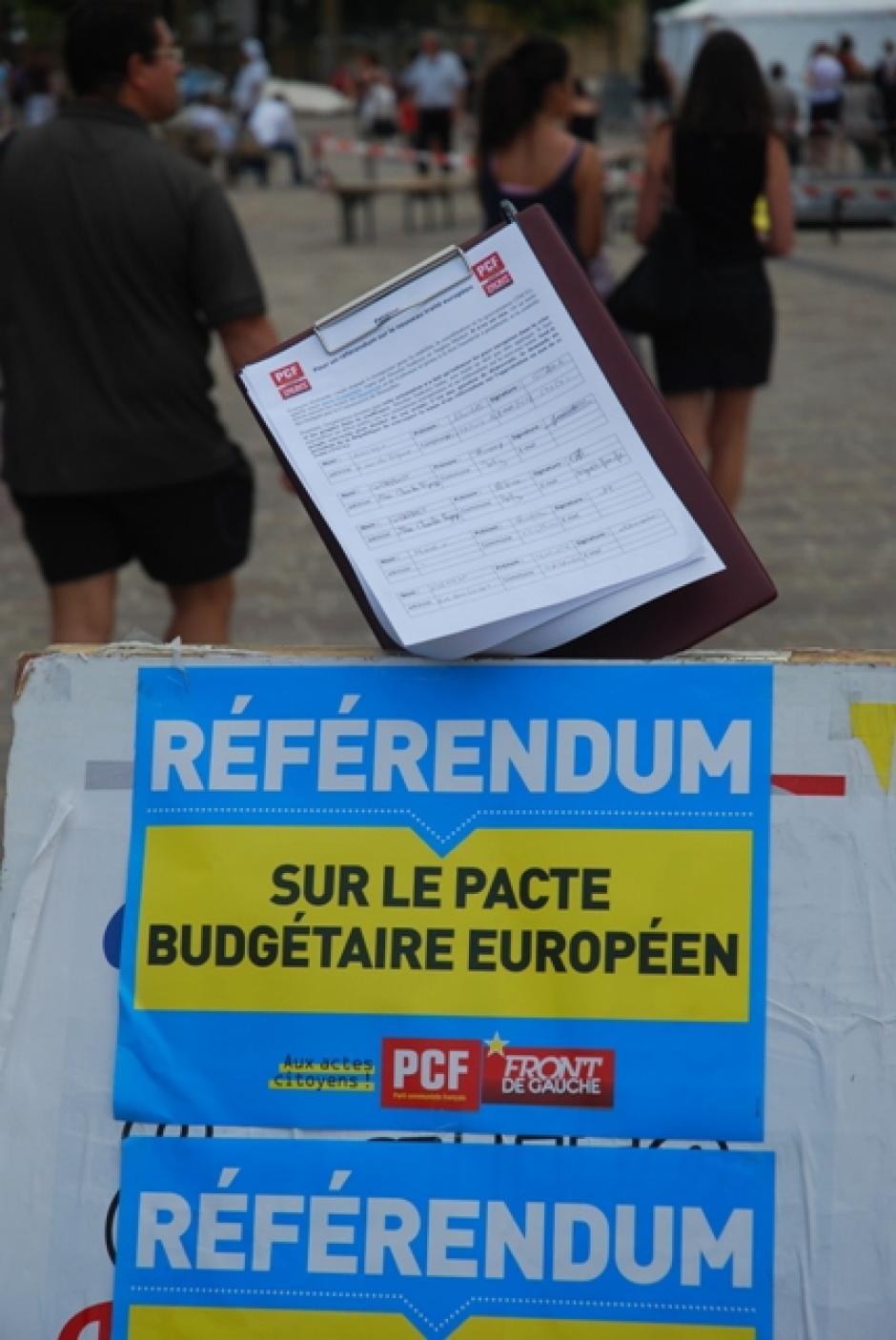 Non à l'austérité dans le droit européen, exigeons un référendum !